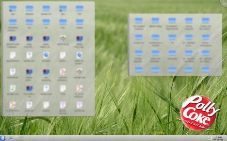 KDE 4.1 Plasma Folder View Plasmoid - Pollycoke :)