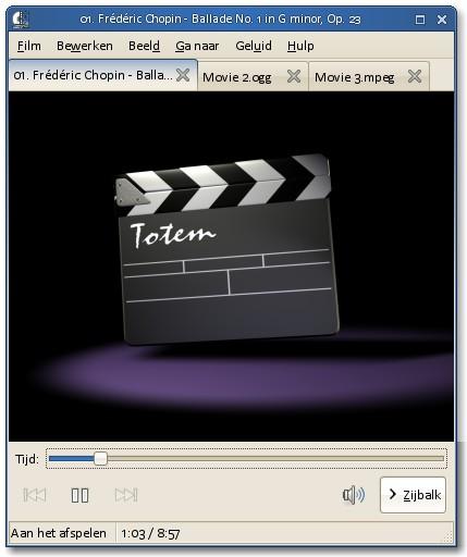 GNOME 3 Totem - Pollycoke :)