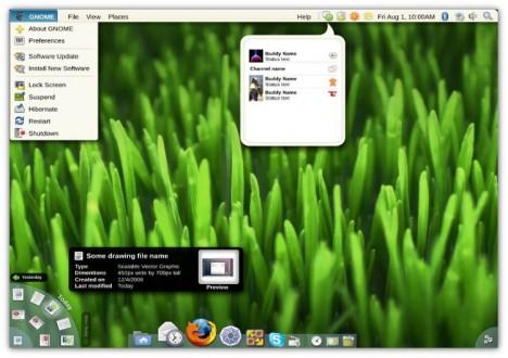 GNOME 3 Mockup aka MacOSX - Pollycoke :)