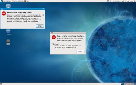 Fedora 10 Mount / Umount Error - Pollycoke :)