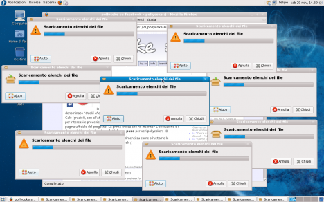 Fedora 10 PackageKit Infinite Progress Windows - Pollycoke :)