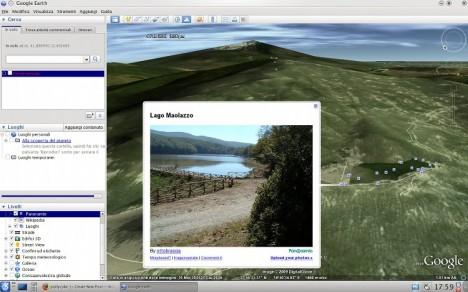 Google Earth Linux 5.0 Lago Maolazzo & Etna - Pollycoke :)