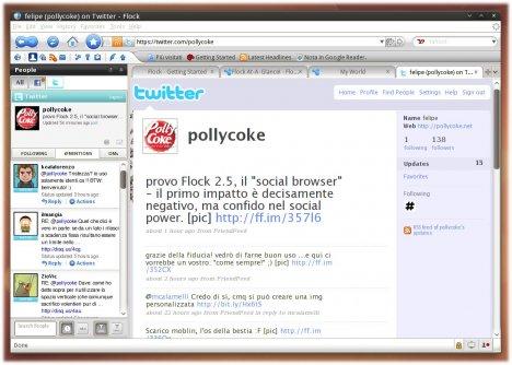 Flock alle prese con Twitter - Pollycoke :)