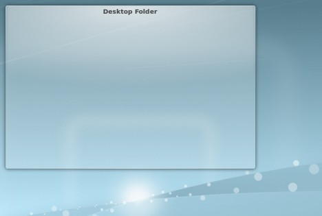 L'inutile FolderView del desktop sul desktop...