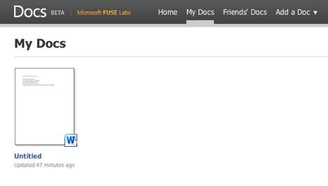 Docs.com My Docs