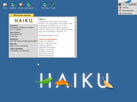 Primo avvio di Haiku