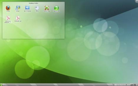 KDE 4.5.2 default desktop