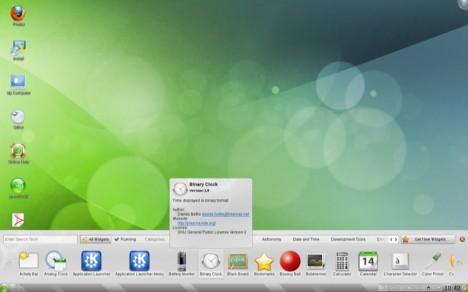 KDE Aggiungi Plasmoide