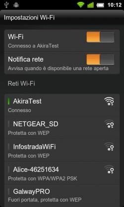 Impostazioni (Wi-Fi)